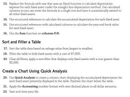 fixed assets format solved please make sure to be done in excel format need