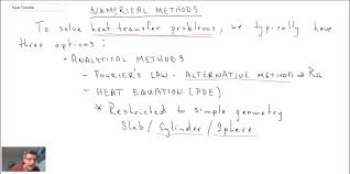 heat transfer l11 p1 introduction to numerical methods