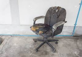 old office chair. Black Office Chair Old Damage Leather And Dirty, Time To Replace Chair.(