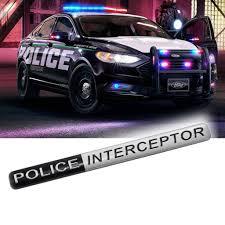 police interceptor metal badge rear side emblem for ford explorer crown victoria