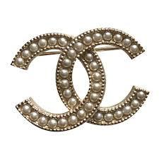 chanel pin. chanel chanel pearl gold metal cc logo brooch pin pins \u0026 brooches golden ref. e