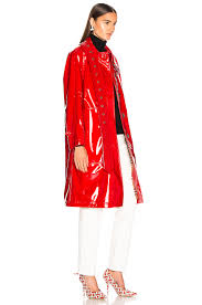 burberry patent leather coat