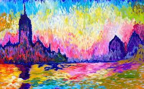 how to paint twilight landscape acrylic monet for beginners