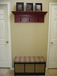 Entry Hall Bench With Coat Rack Decor Entryway Storage Bench With Wall Mounted Coat Rack For Small 97