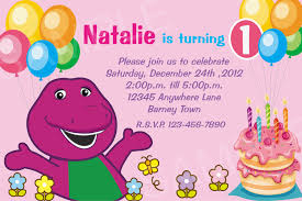barney party invitation template free editable barney birthday invitations premium invitation