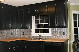 Tin Backsplashes For Kitchens Kitchen Astounding L Shape Kitchen Decoration Using Silver Black