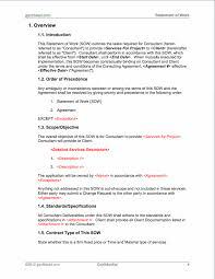 It Statement Of Work Projectmanagement Com Statement Of Work Template Pmp Statement