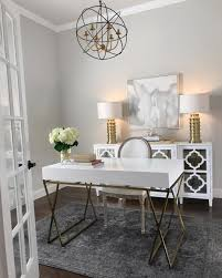 home office inspiration white and gold desk white mirrored sideboard gold table ls gray rug zgallerie glam home office clic gray benjamin moore