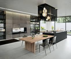 dining table interior design kitchen: tavolato biondo oak worktop and table italian manufactured contemporary kitchens interiors black kitchens design kitchens house kitchen exquisit