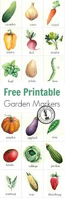 free printable garden markers