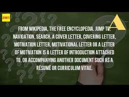 What Is A Cover Letter Wiki Youtube Collection Of Solutions Cover
