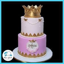 Amiras Princess 1st Birthday Cake Blue Sheep Bake Shop