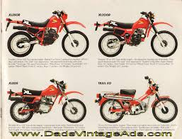vintage honda motorcycle ads. 1984 vintage honda dirt motorcycle brochure u2013 quick and dirty ads