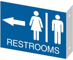 bathroom sign with arrow. Brilliant Arrow Men Women Wall Mount Restroom Sign Directional Arrow RR2D01 Inside Bathroom With R