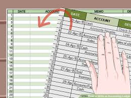 Bookeeping Ledger How To Write An Accounting Ledger With Pictures Wikihow