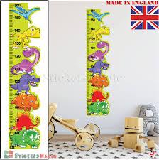 Details About Dinosaur Height Chart Wall Sticker Measure