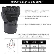 Ufc Glove Size Chart Mma Glove Sizes Chart Bedowntowndaytona Com