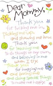Thank You Mom Quotes Awesome Dear Mommy Thank You For Tucking Me In Picking Me Up And Showing