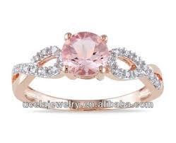 hippie wedding rings. rose gold plated morganite and flat diamond ring hippie gemstone engagement rings wedding