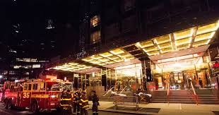 an electrical fire broke out at trump international hotel and tower on the upper west side early friday fdny officials and sources said
