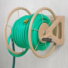 garden hose reel wall mount winder landscaping water yard container caddy wheels 2