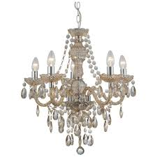 8885 5mi marie therese 5 light mink coloured chandelier