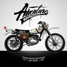 vintage scrambler motorcycle poster vector premium download