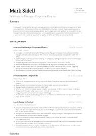 003 Investment Banking Cv Examples Standard Resume Template Unique