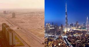 Dubai Before And After Incredible Before And After Photos Of Dubais Skyline