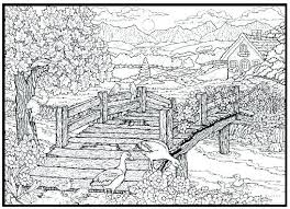 hard nature coloring pages colouring pages nature scenes coloring books for kindergarten s ideas