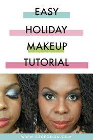 easy holiday makeup tutorial dark skin ceceolisa jpg