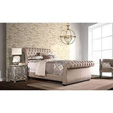 Upholstered sleigh bed frame King Size Image Unavailable Amazoncom Amazoncom Hillsdale Furniture Upholstered Sleigh Bed king 8425