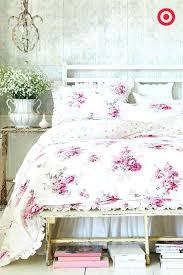 comforter sets at target shabby chic bedding fl comforter set full queen pink simply sets target