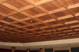 Classic Coffers Suspended Wood ceiling offers a classic look for an  affordable price with easy installation.