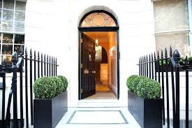 black entry door entrance door entry traditional with gold door black metal fence black front black entry door