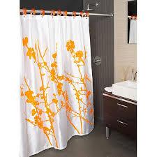 curtains cool orange shower curtain ideas orange curtains walmart