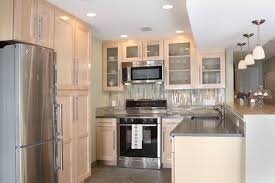 Kitchen Reno Stainless Steel Countertop Brown Color Wooden Large Kitchen