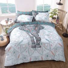elephant mandala duvet cover with pillow case quilt cover bedding set all sizes
