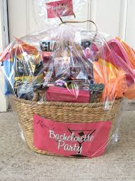 relax having fun with a bachelorette party gift basket