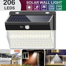 136 206LED <b>Solar</b> Wall <b>Lamp Human Body</b> Induction <b>Lamp</b> Outdoor ...