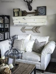 wall decor above couch shabby chic hunting lodge mount ideas