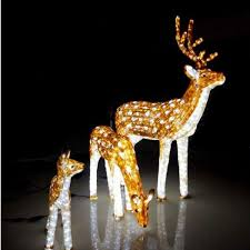 outdoor lighted reindeer and sleigh designs outdoor lighted reindeer lighting