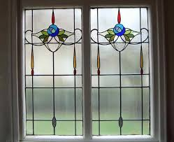 outstanding stained glass window artscape with simple