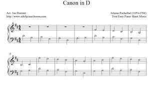 In this video, i break up the music into groups of four and i show you how t. Canon In D Free Printable Piano Sheet Music
