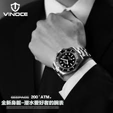 aliexpress com buy vinoce 200m sports divers watch fashion steel aliexpress com buy vinoce 200m sports divers watch fashion steel belt men watch waterproof watch quartz watch oyster mens watches top brand luxury from