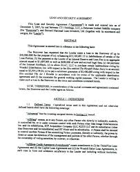 loan and security agreement template. loan and security agreement template dynabooinfo