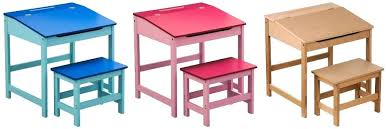 kids writing desk kids school writing drawing colouring homework desk and stool set desk chair no
