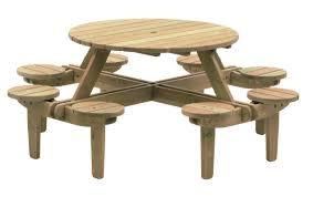 alexander rose pine gleneagles 8 seater picnic table 1 1m