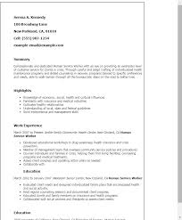 Resume Templates: Human Service Worker