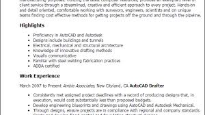 Sample Autocad Drafter Resume Autocad Drafter Resume Template Best Design Tips